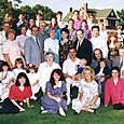 Cheryl with her family in 1991