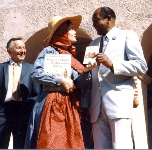Cheryl and Mayor Tom Bradley