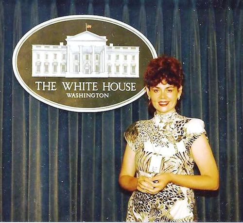 Cheryl Rhoads at White House 1988